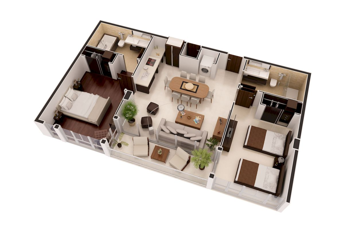 Floor plans 3d rendering services xpress rendering 3d floor plan online