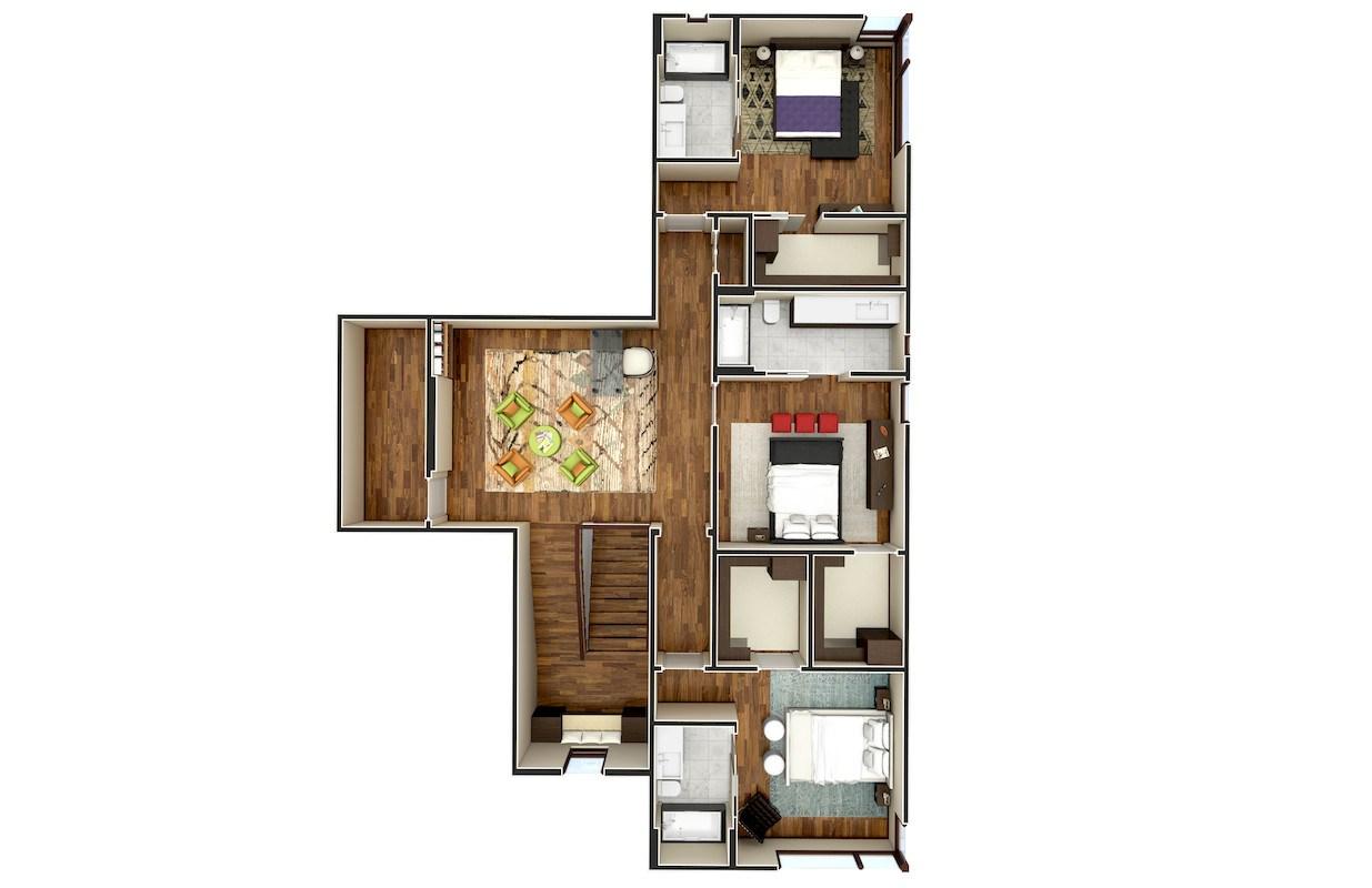Floor plans 3d rendering services xpress rendering for 3d floor plan rendering