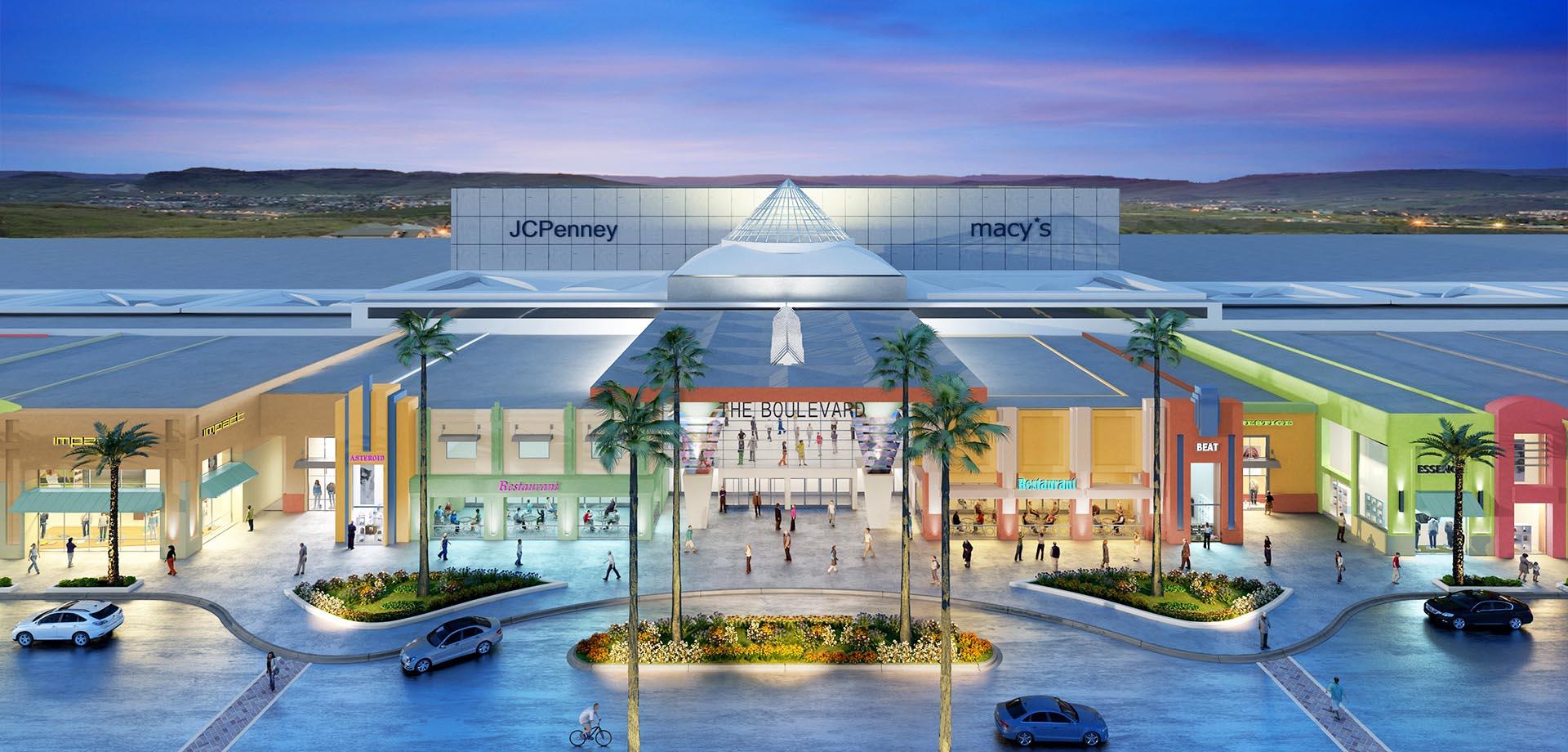 3D Render Exterior mall 2