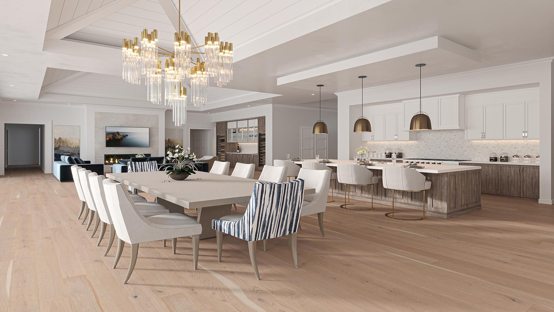 3D Render Interior WarmickWay Kitchen