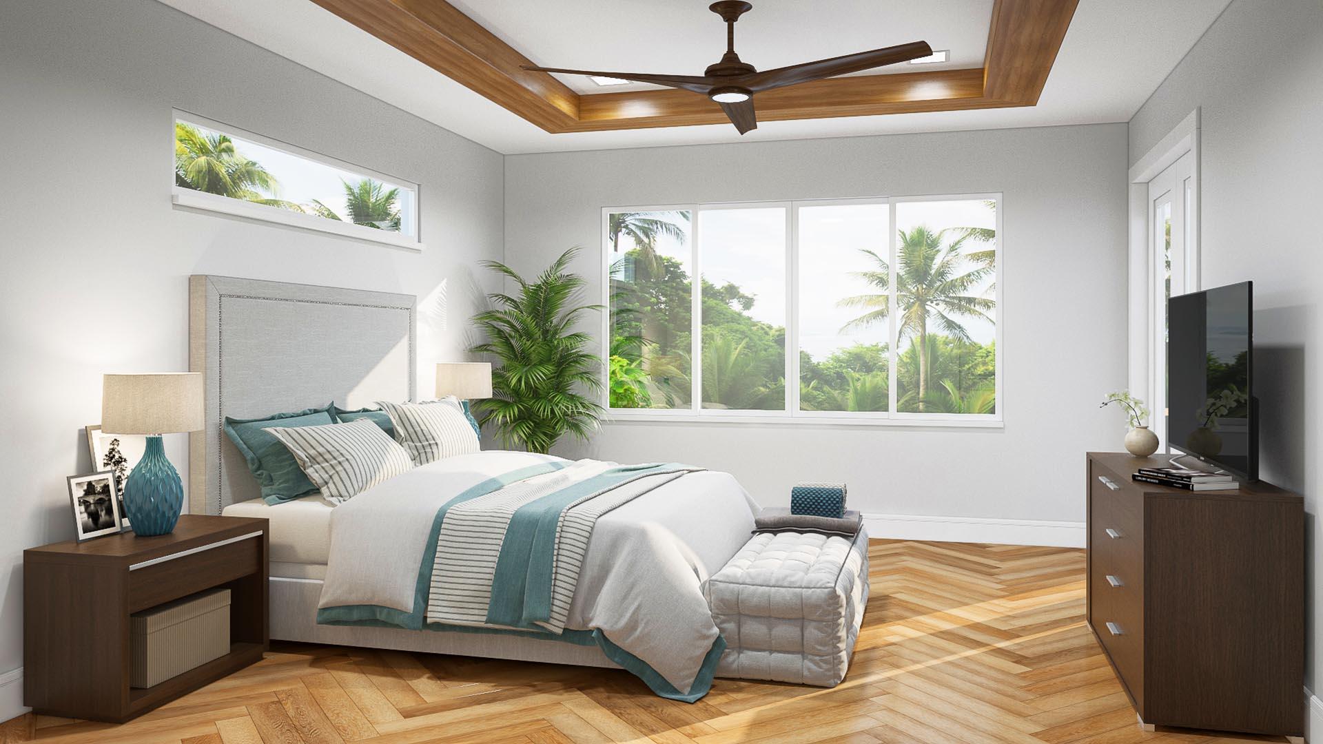 3D Render Interior Wisconsin bedroom