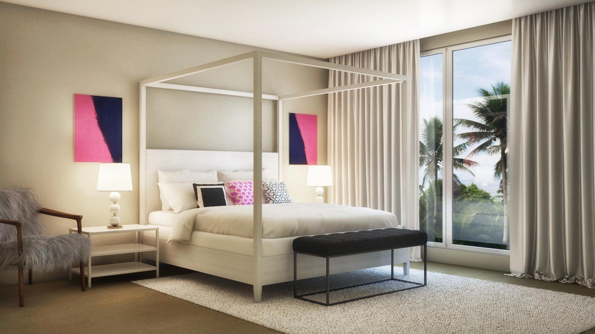 3D Render Interior Master Bedroom