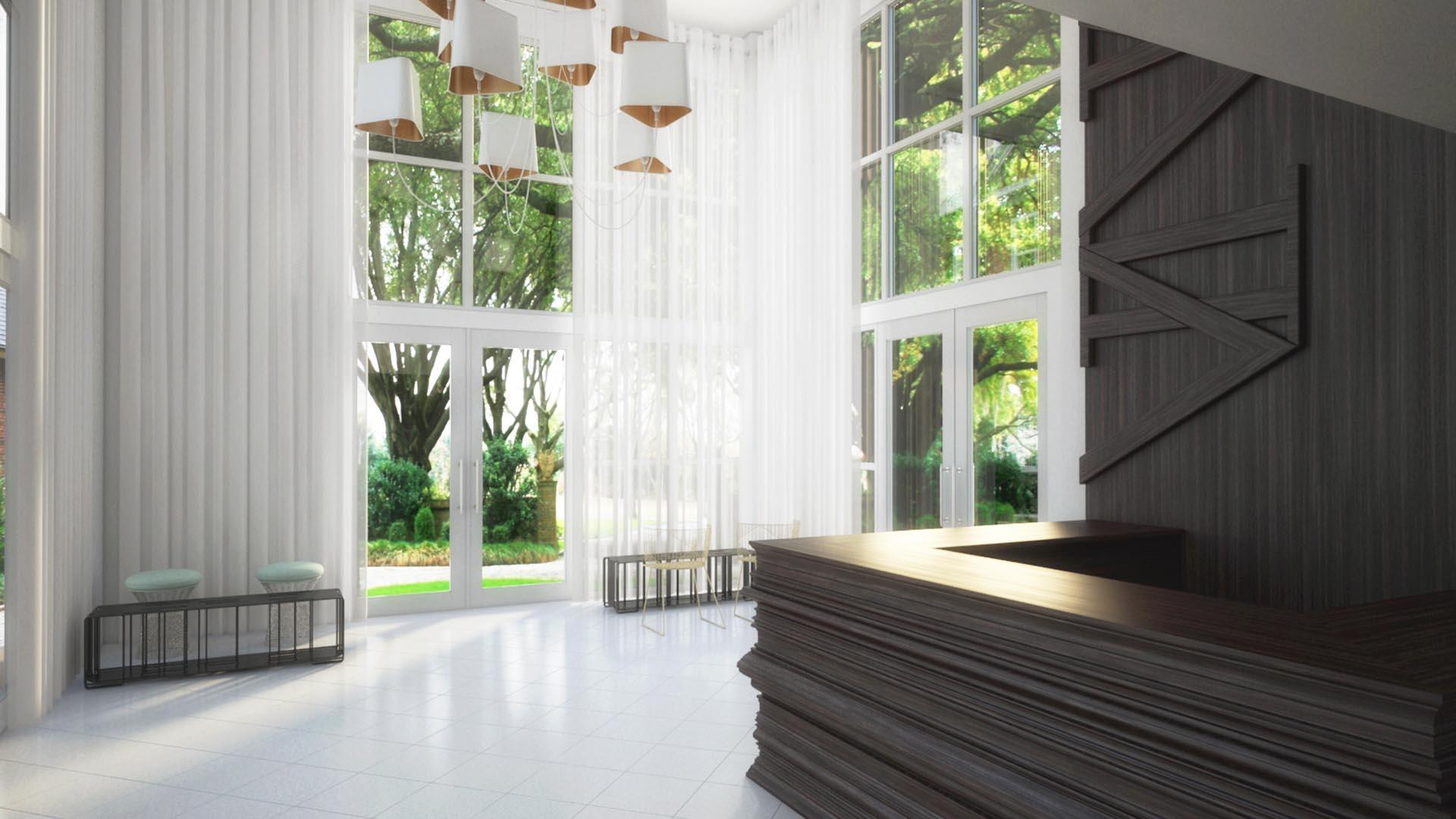 3D Render Interior Lobby