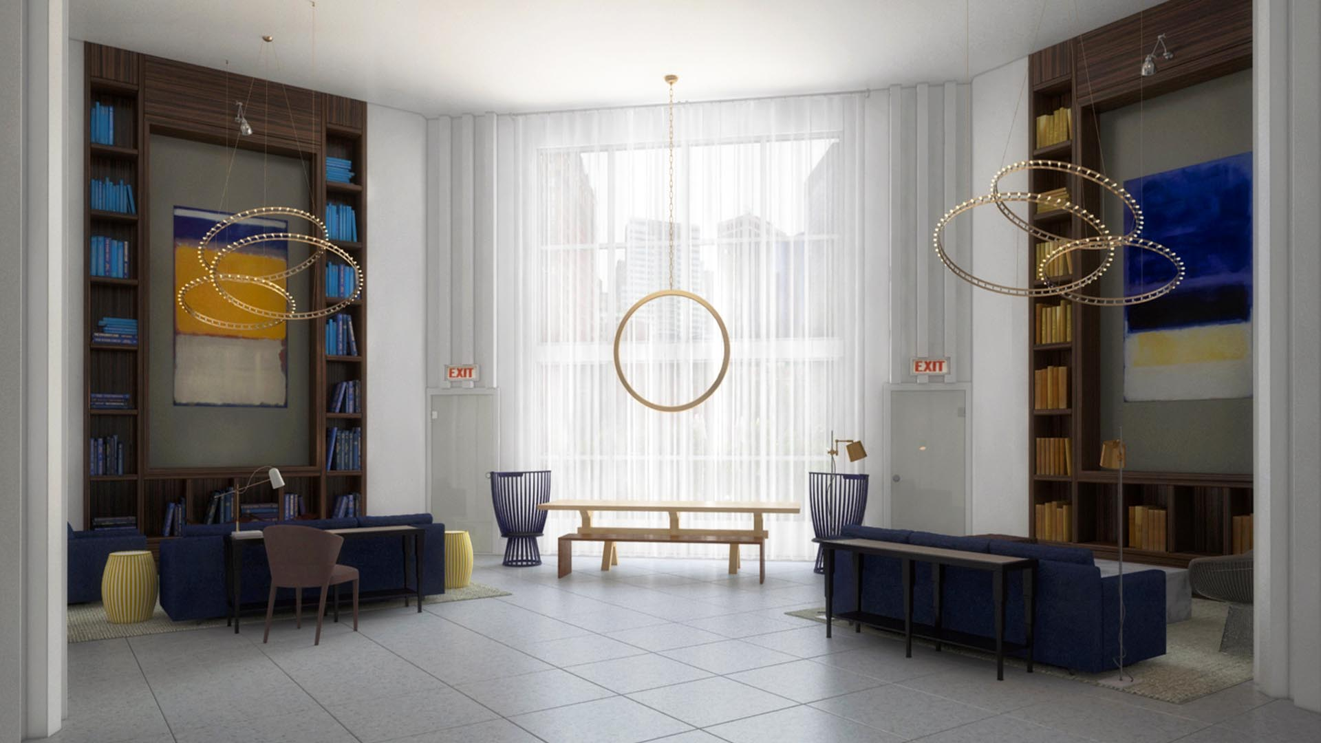 3D Render Interior Clubroom