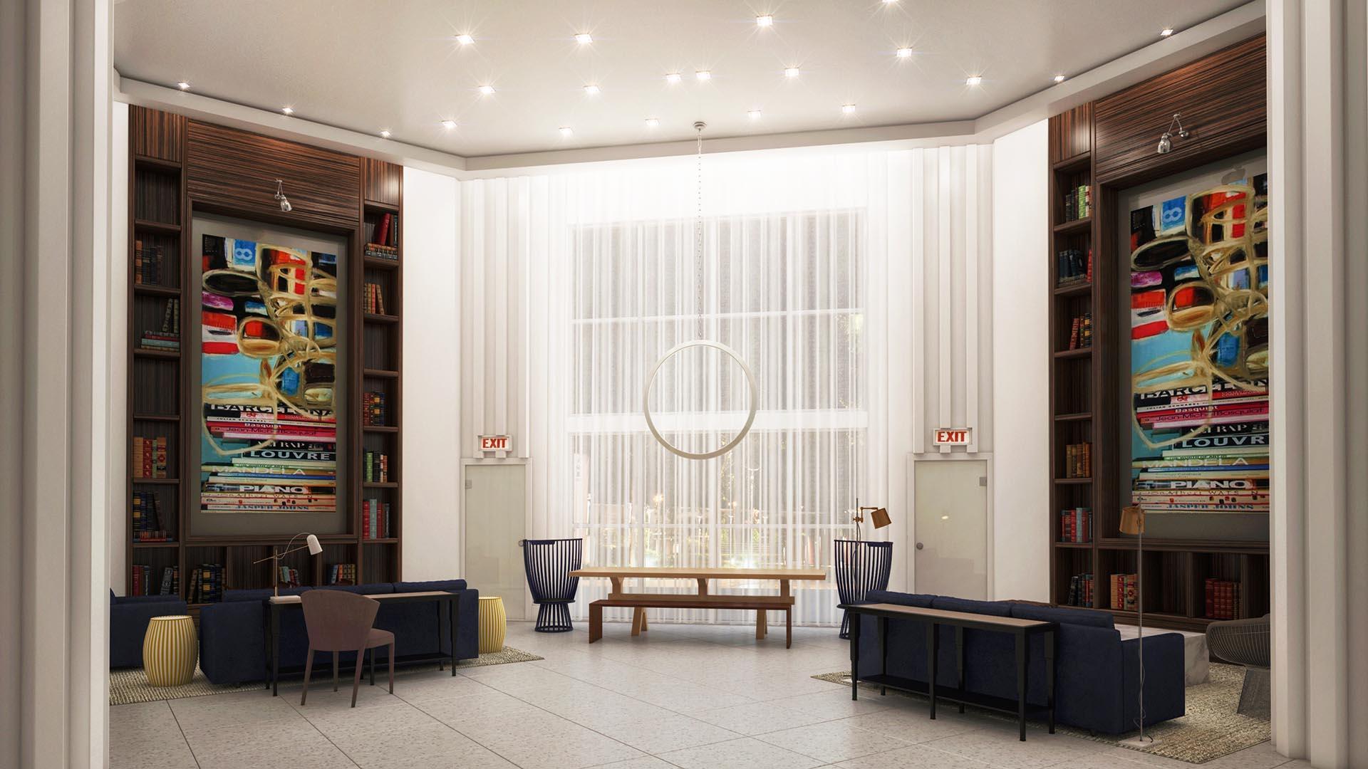 3D Render Interior Sevens clubroom
