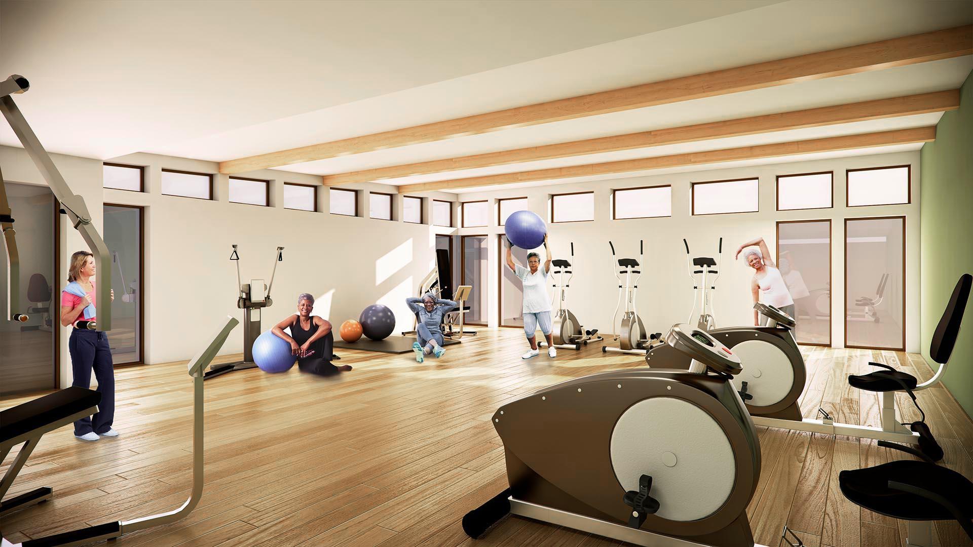 3D Render Interior fitness