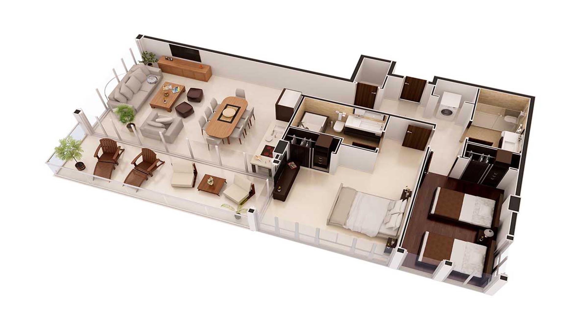 3D Render Floor Plan 2