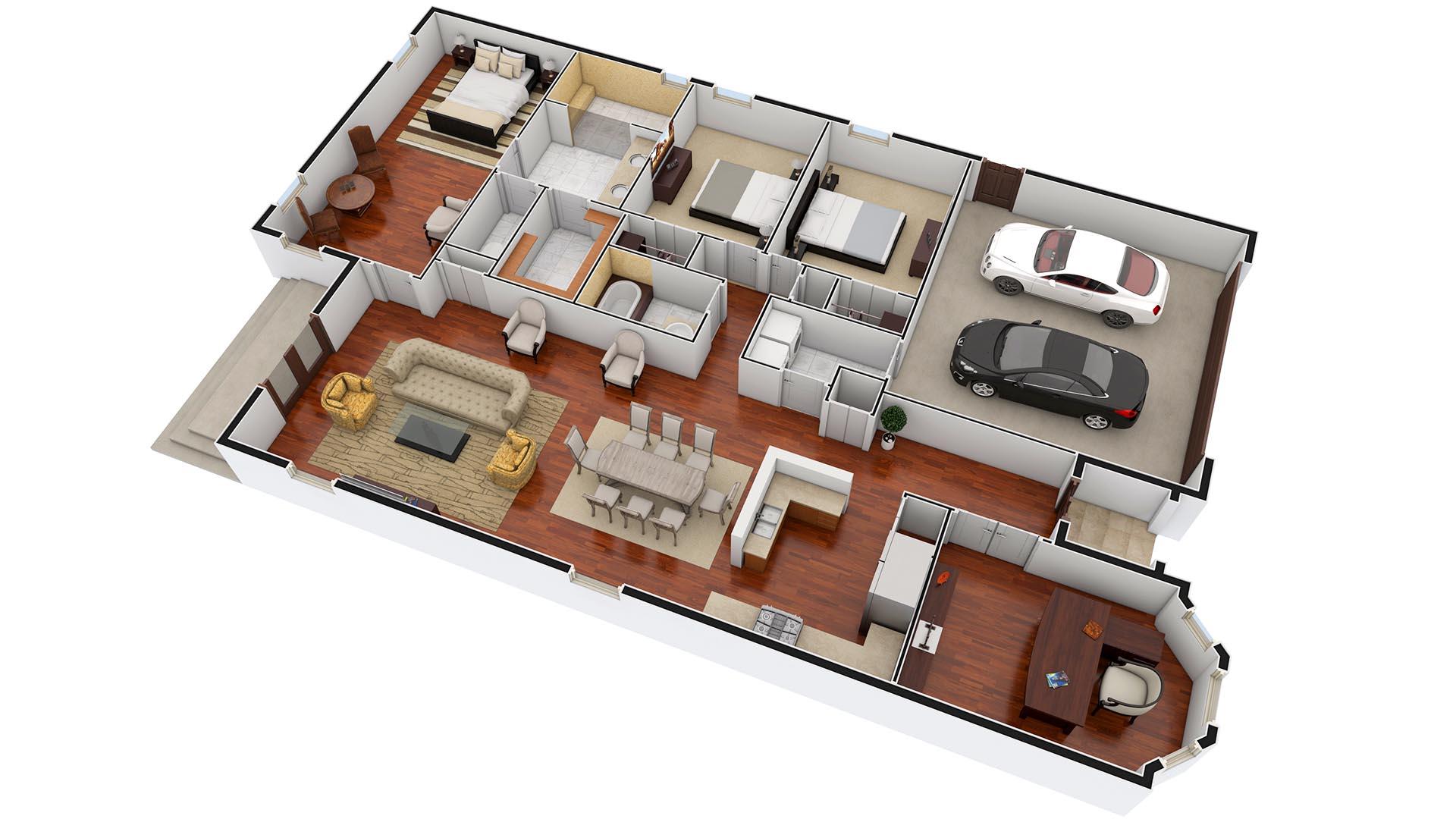 3D Render Floor Plan Pompano