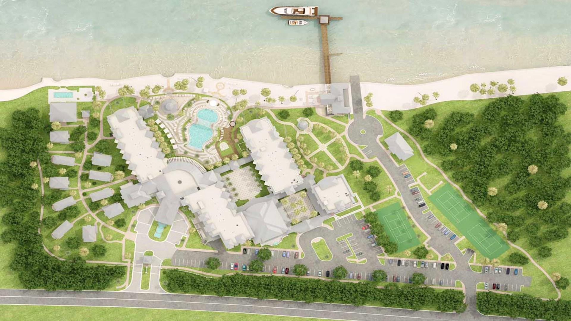3D Render Site Plan top view 6