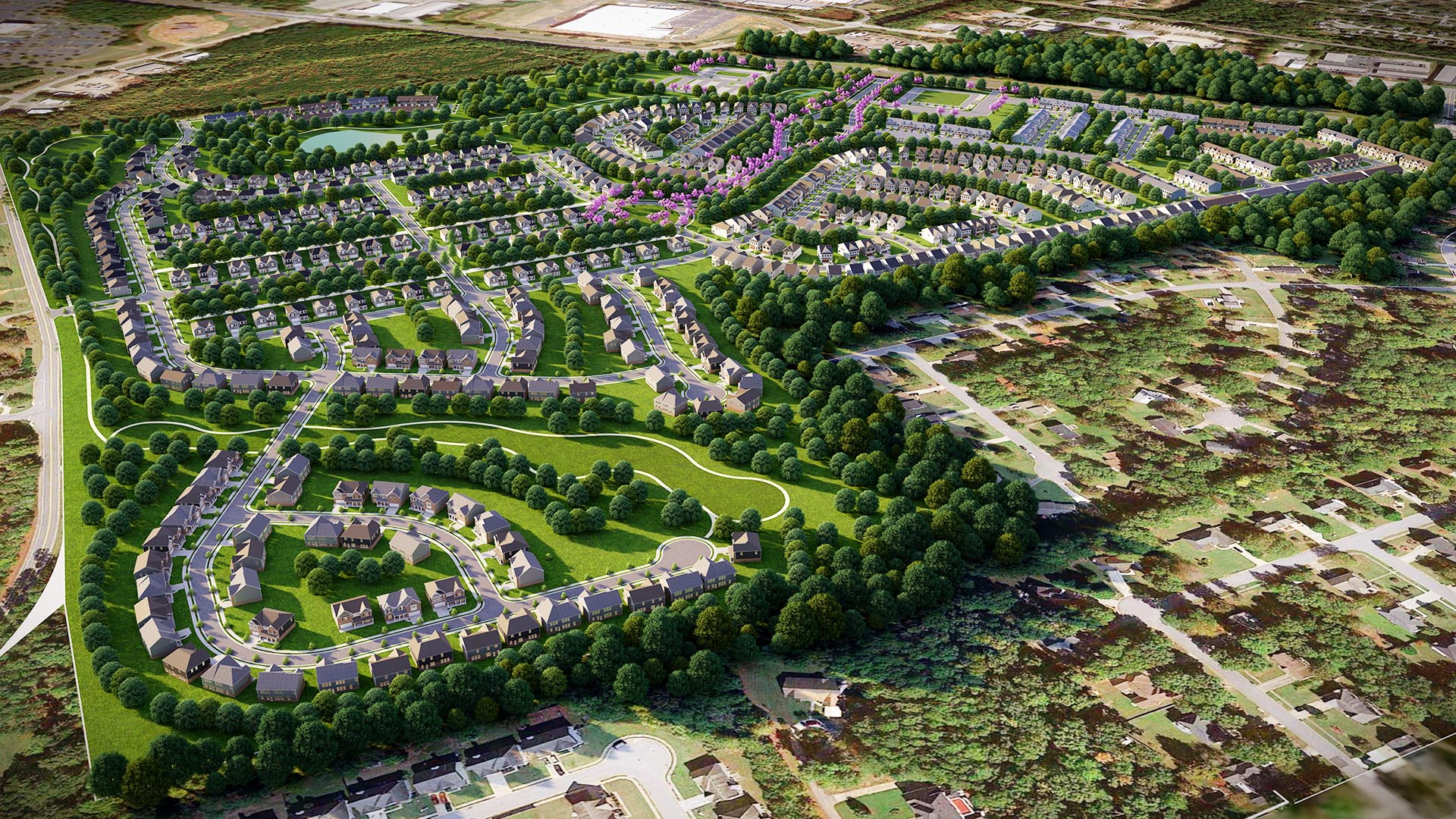 3D Render Site Plan Clayton County