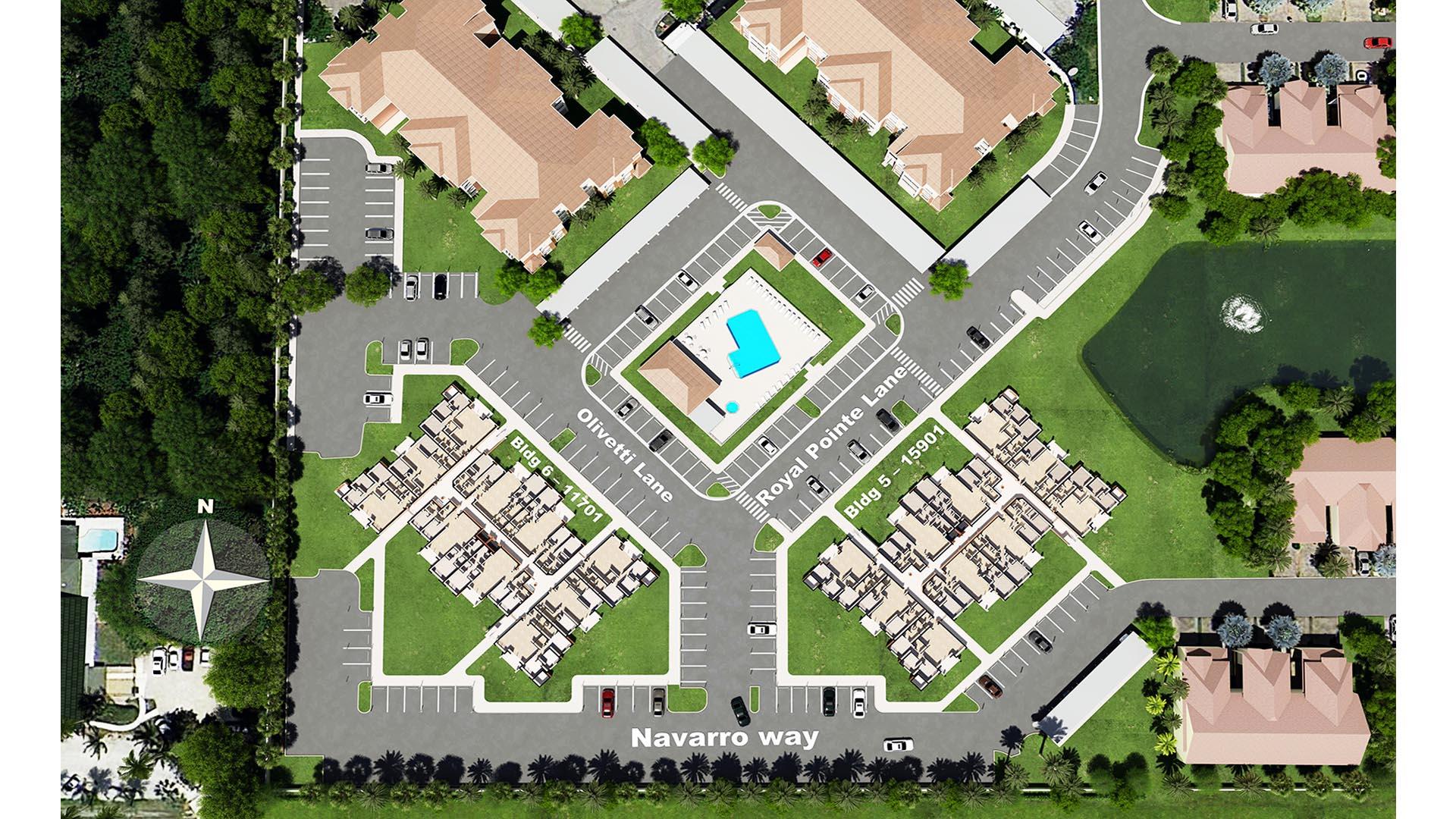 3D Render Site Plan top view 4