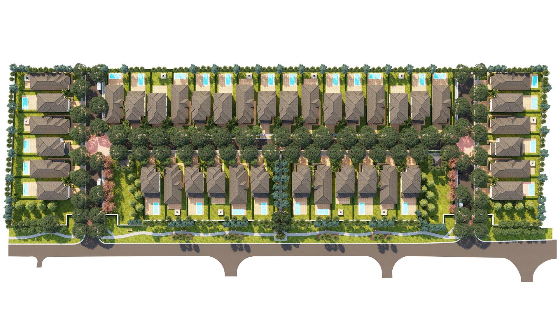 3D Render Site Plan top view 9