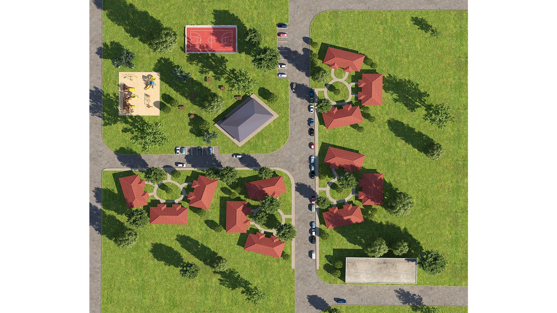 3D Render Site Plan apartment units
