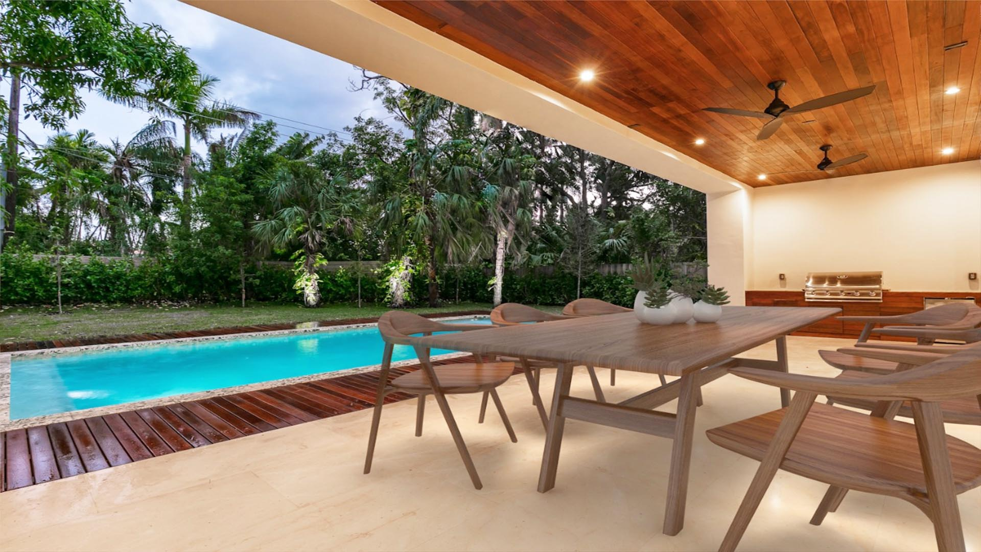 3d Render Virtual Staging patio